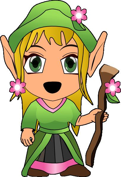 408x594 Girl Elves Clipart