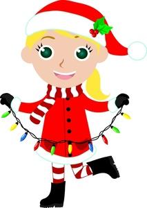 213x300 Girl Christmas Elves Clipart