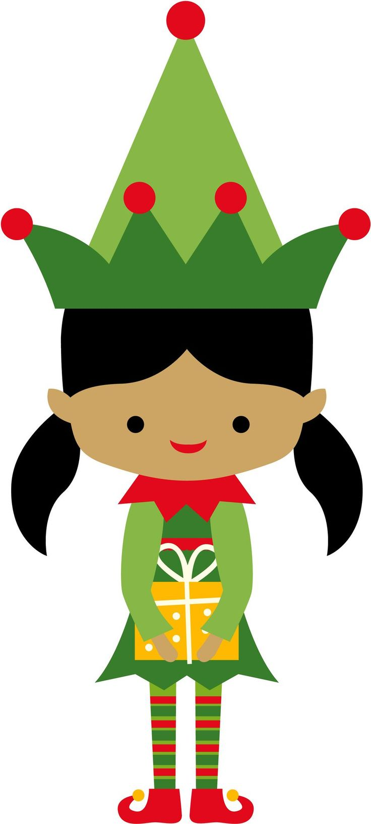 736x1633 Girl Elf Clipart