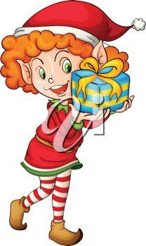 208x350 Little Girl Clipart Elf
