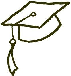 250x268 Graduation Hat Clip Art