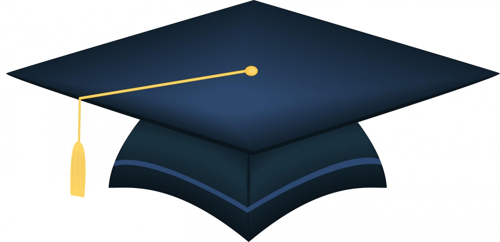 1700x823 Graduation Cap Blue Clipart