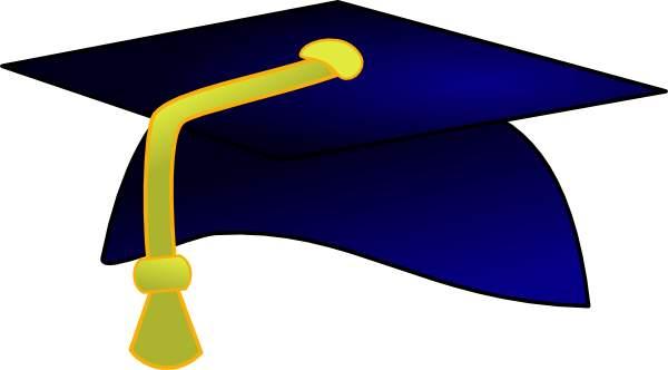 600x332 Graduation Cap Blue Clipart 2