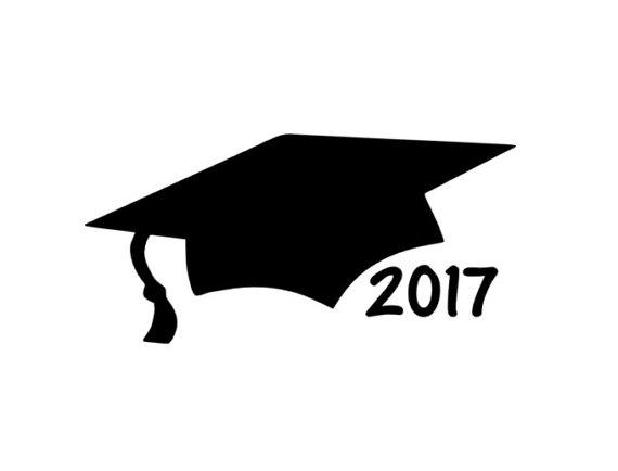 570x434 Graduation Cap Car Decal 2017 Graduation Gift Class Of 2017