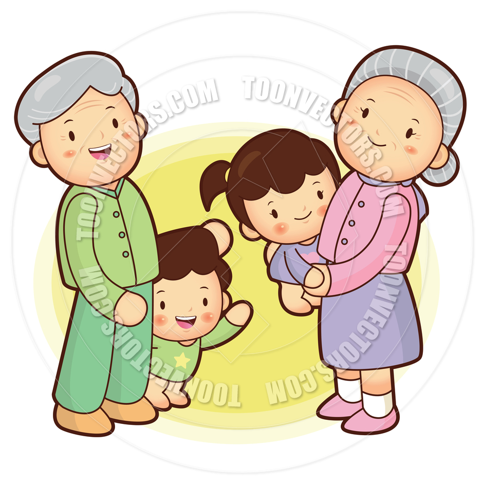 940x940 Grandparents Family Clipart