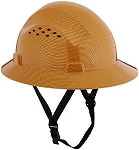 cd05e6739bd6c 277x300 Hdpe Natural Tan Full Brim Hard Hat With Fas Trac Suspension
