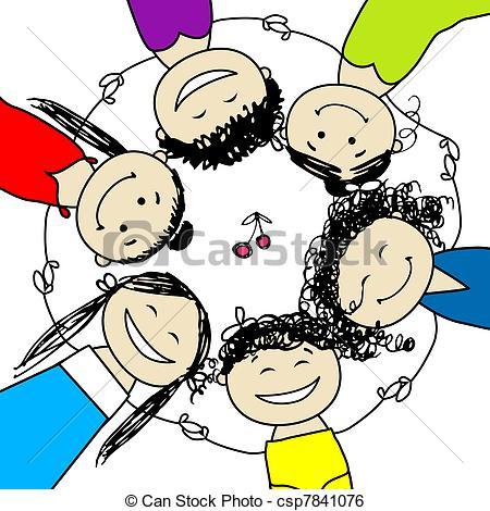 450x470 Group Of Friends Having Fun Clipart Clipart Panda