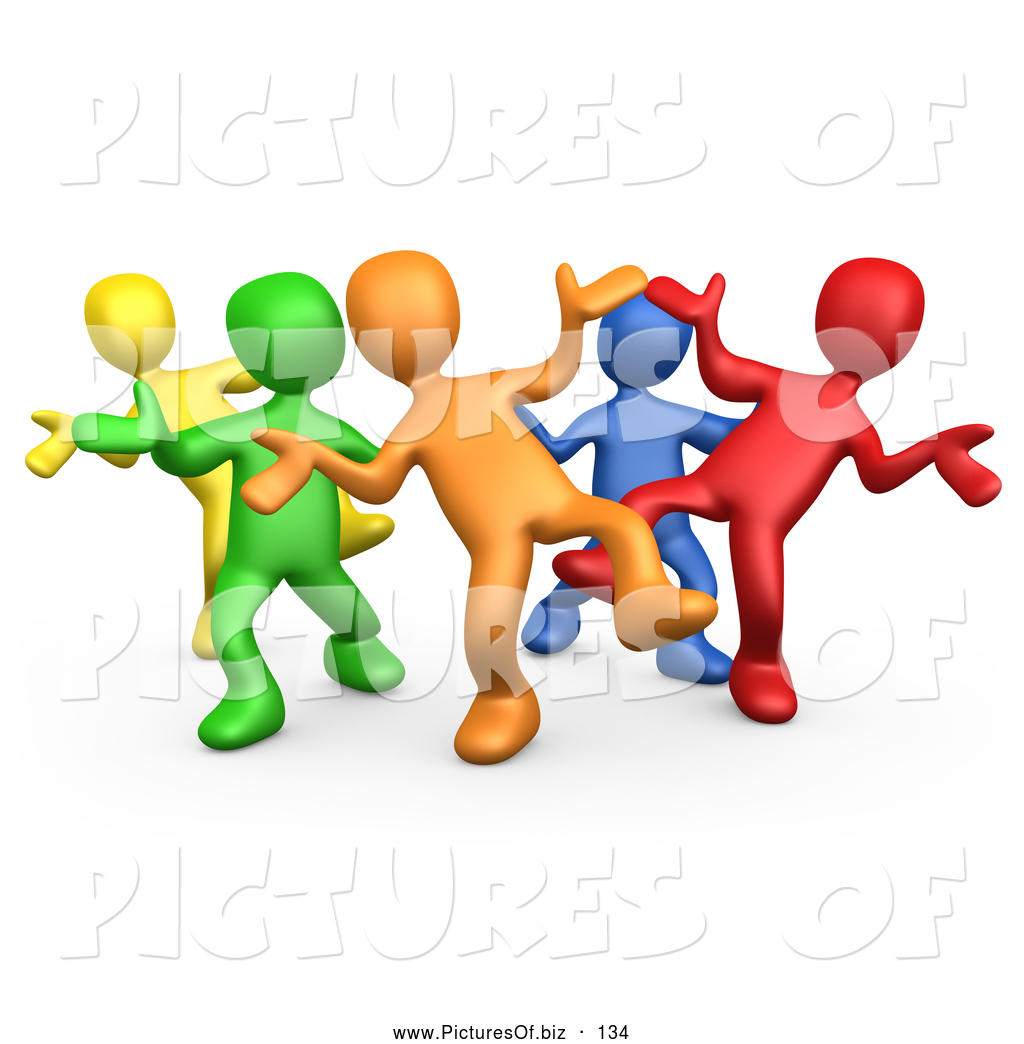 1024x1044 Vector Clipart Of A Varied Diverse Group Dancing And Having Fun