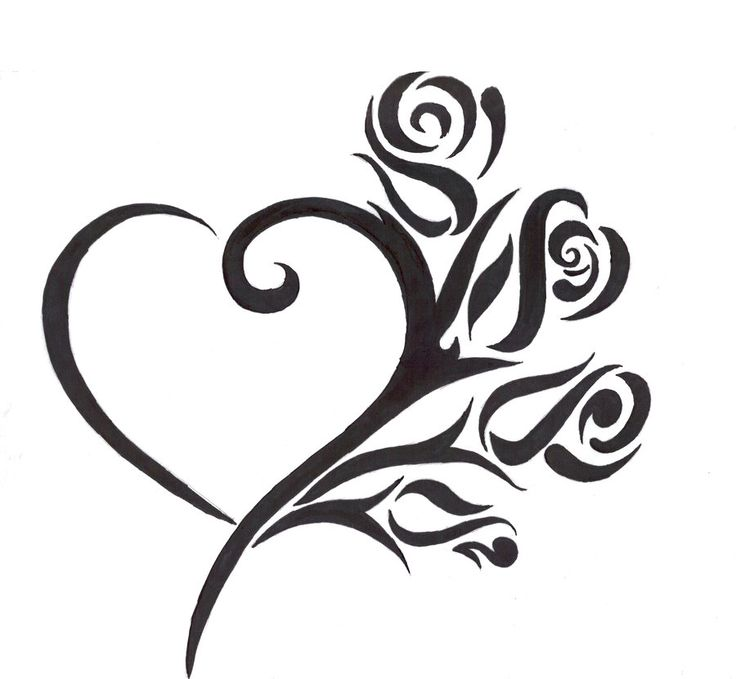 736x679 18 Best Heart Tattoo Drawings Images Heart Outline