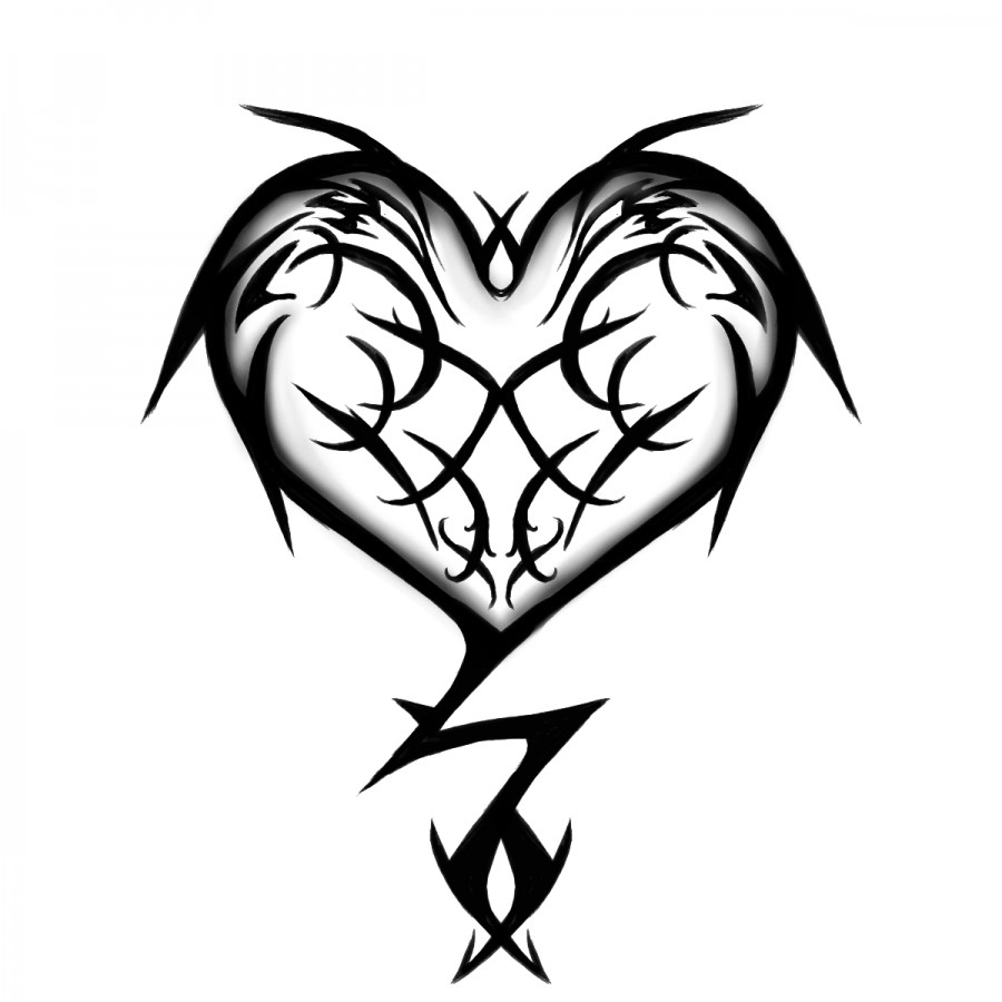 900x900 Drawn Heart Design Drawing