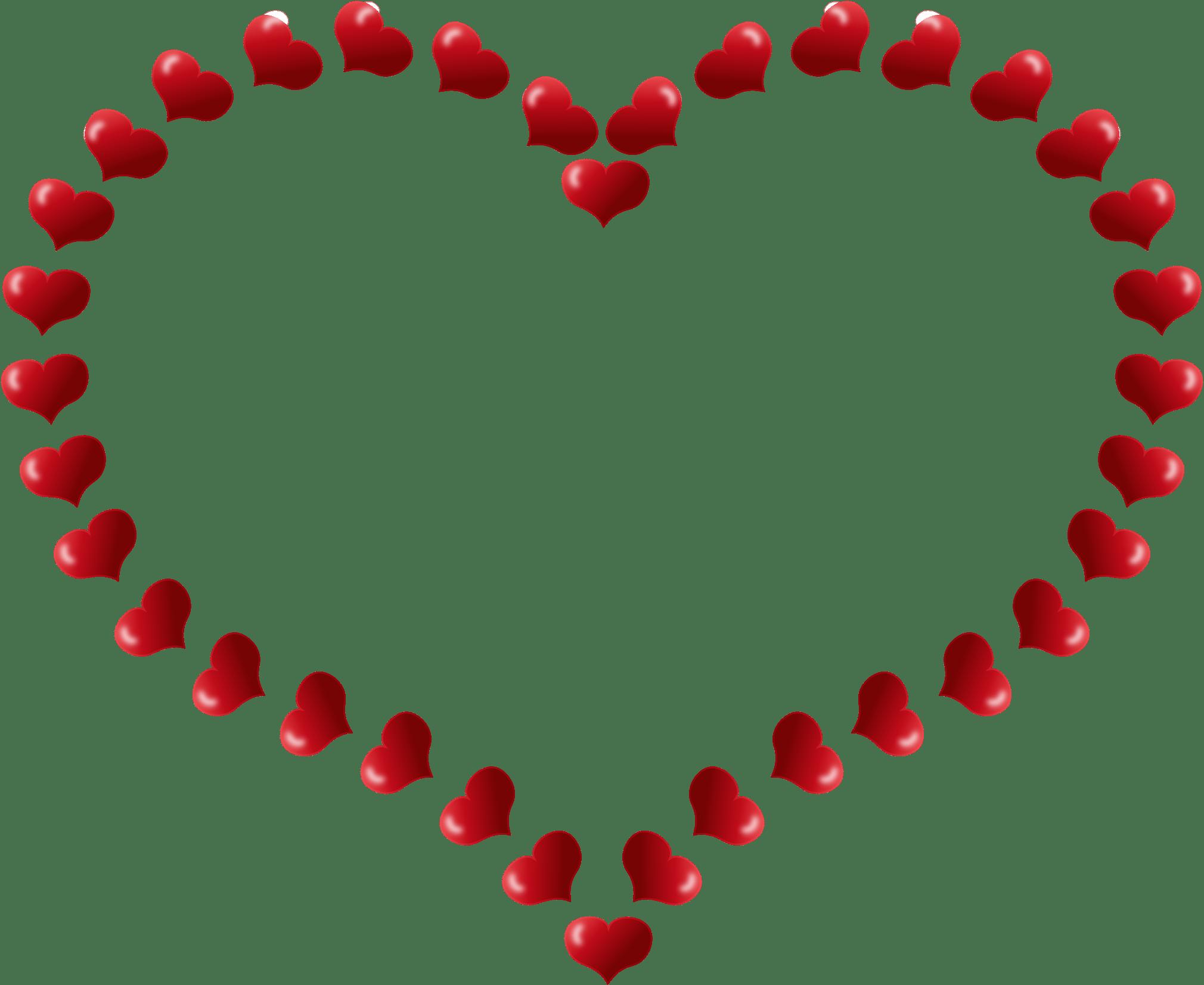 2020x1653 Heart Outline Stars Transparent Png
