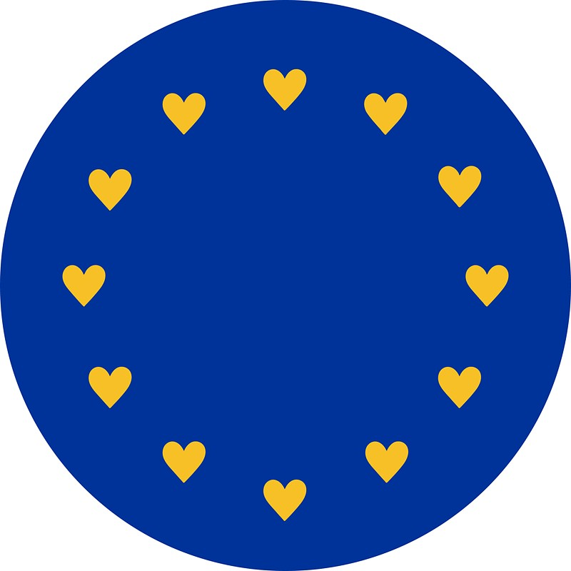 800x800 I Love Europe, Hearts, Heartbeat, Eu Stars, Flag, European Union