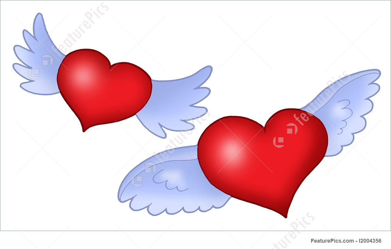 1300x829 Heart With Wings Illustration