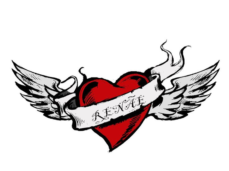 736x552 40 Best Broken Heart With Wings Tattoo Images