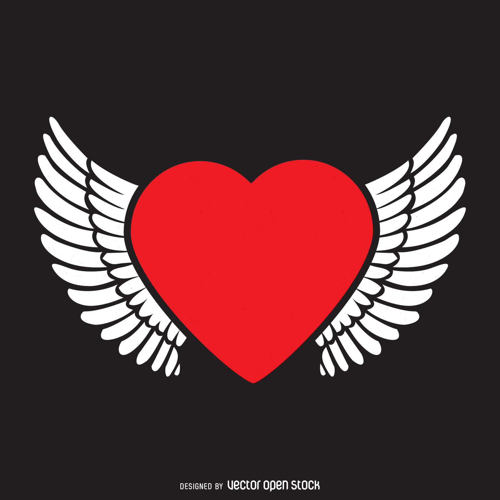 1600x1600 Heart With Wings Logo Template