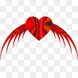 260x260 Heart With Wings, Heart Shaped, Wing, Decorative Pattern Png