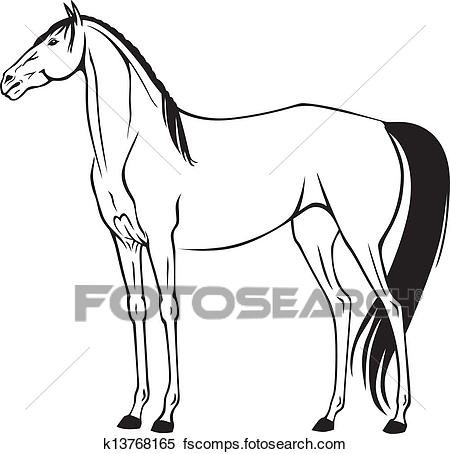 450x454 Clipart Of Beautiful Thoroughbred Riding Horse K13768165