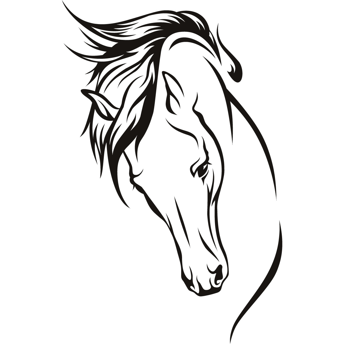 1200x1200 Drawn Horse Easy Draw