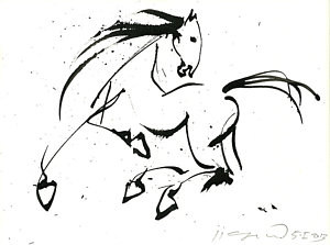 300x223 Horse Galloping Drawings
