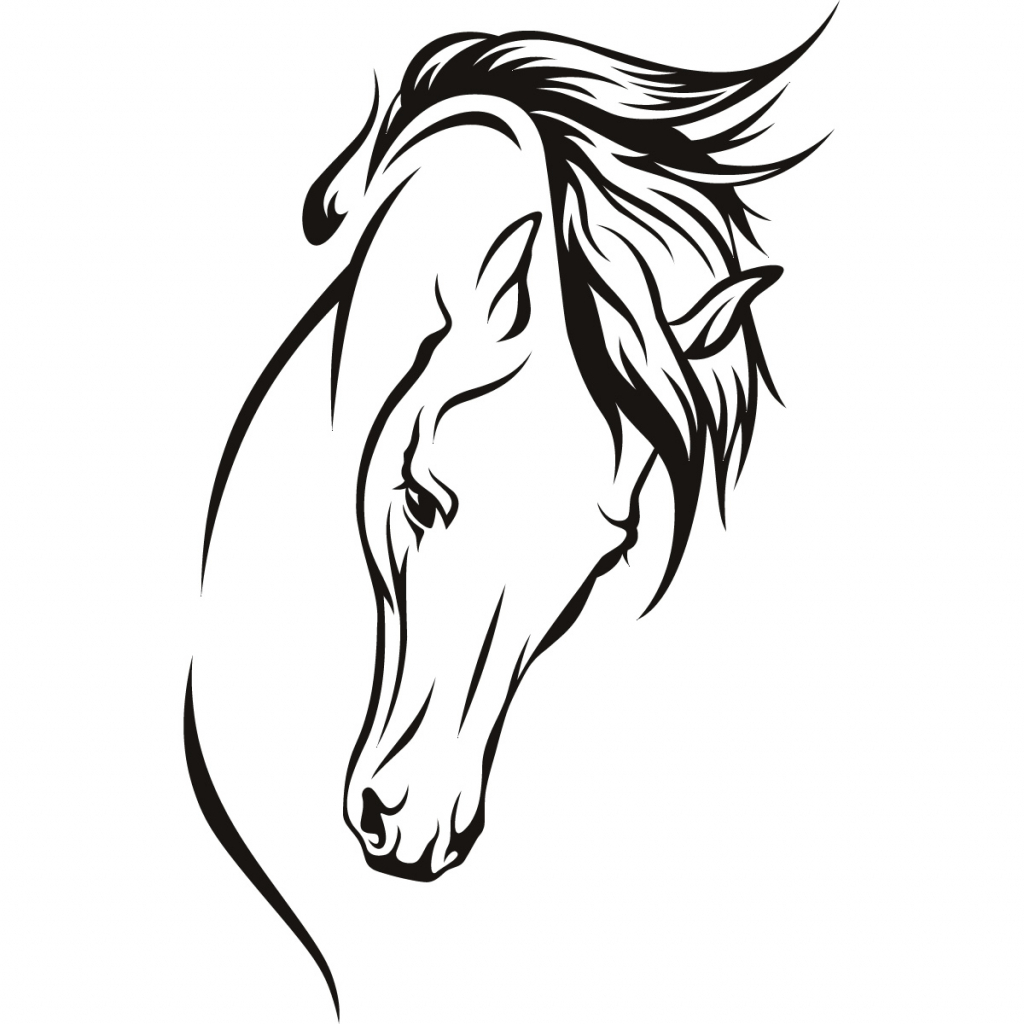 1024x1024 Simple Horse Head Drawing Simple Horse Face Clipart Clipart Kid