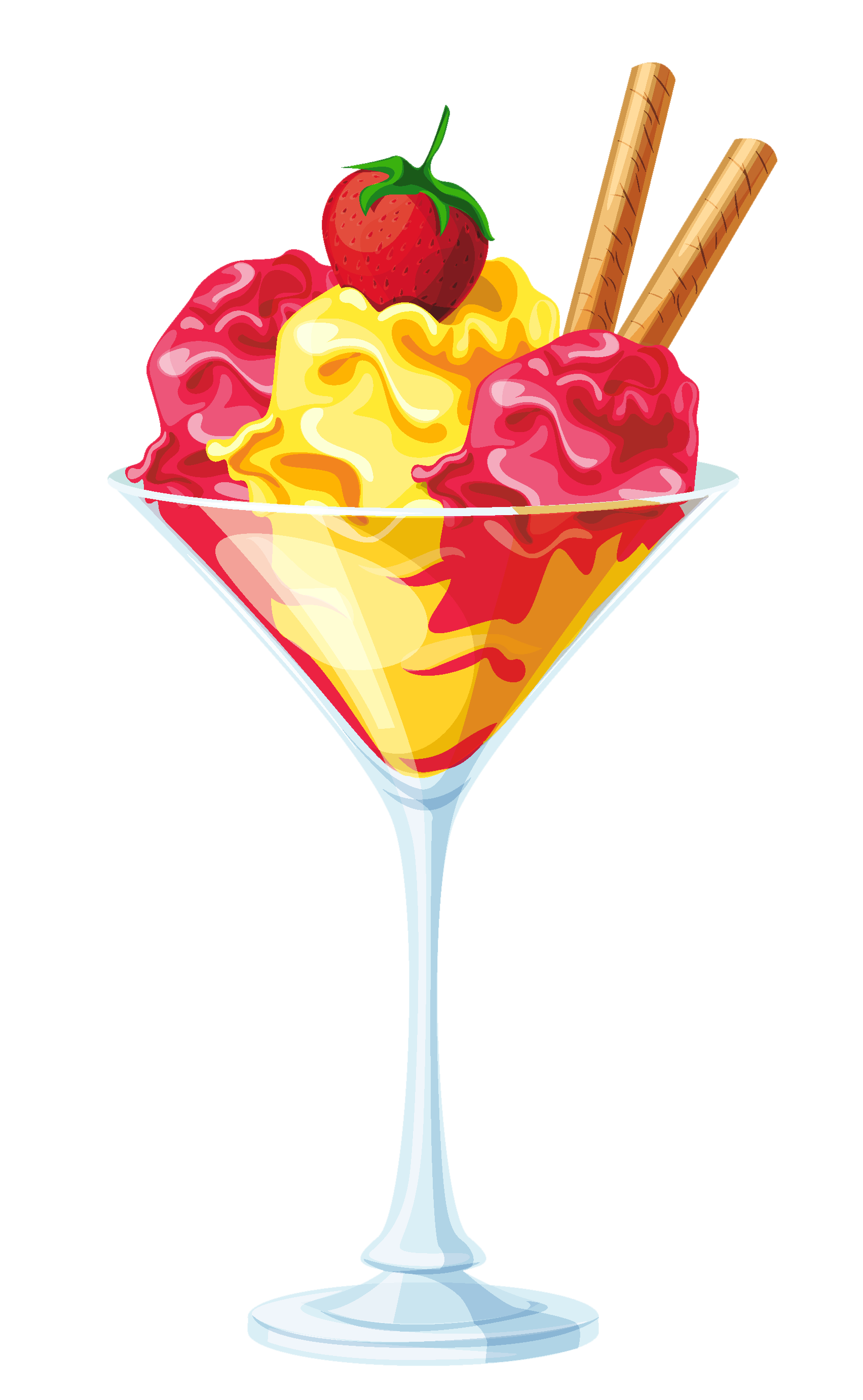 1703x2764 Yellow Red Ice Cream Sundae Transparent Pictureu200b Gallery