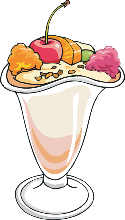 438x765 Free Ice Cream Sundae Clipart