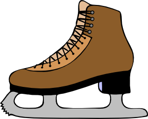 300x241 Ice Skate Shoe Clip Art