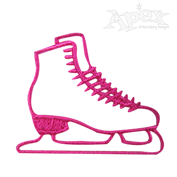 600x600 Ice Skates Embroidery Designs