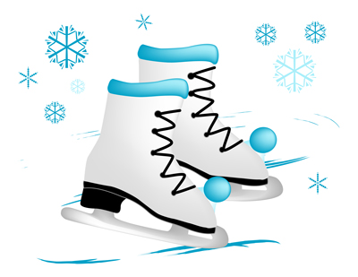 400x309 Ice Skates Illustration Cottonwood Whispers