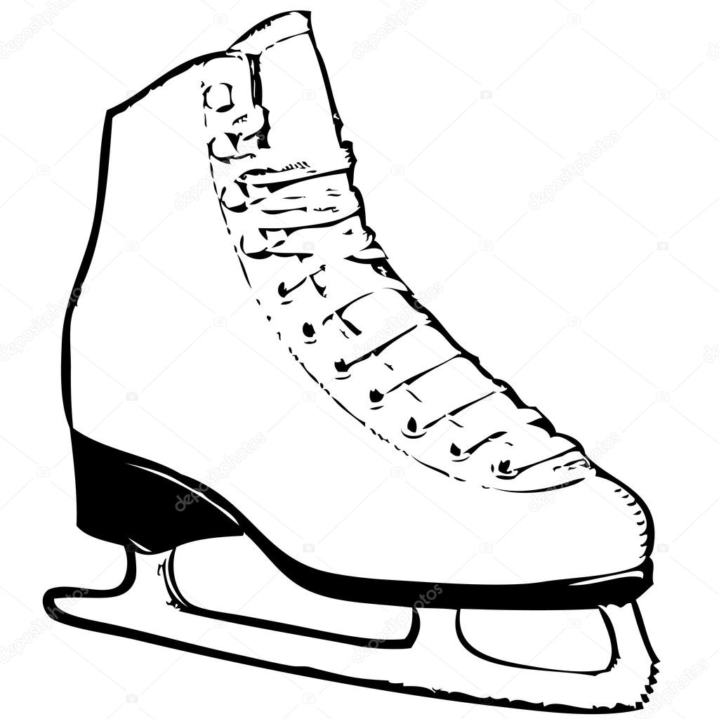 1024x1024 Ice Skates Stock Vector Roman101