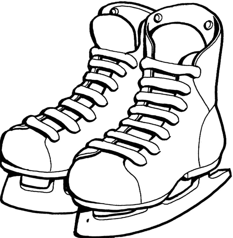 800x819 Shoes Ice Skating Coloring Page Ice Skating Stamps