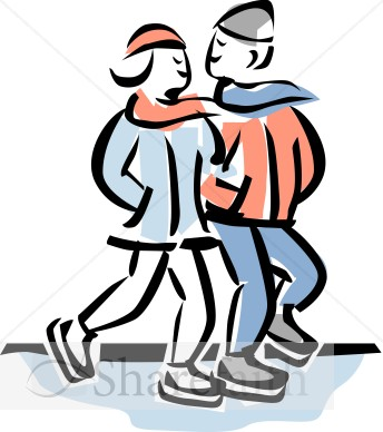 344x388 People Clipart Ice Skating