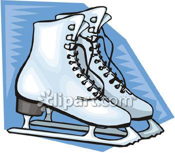 350x306 Royalty Free Clipart Image Women's Ice Skates