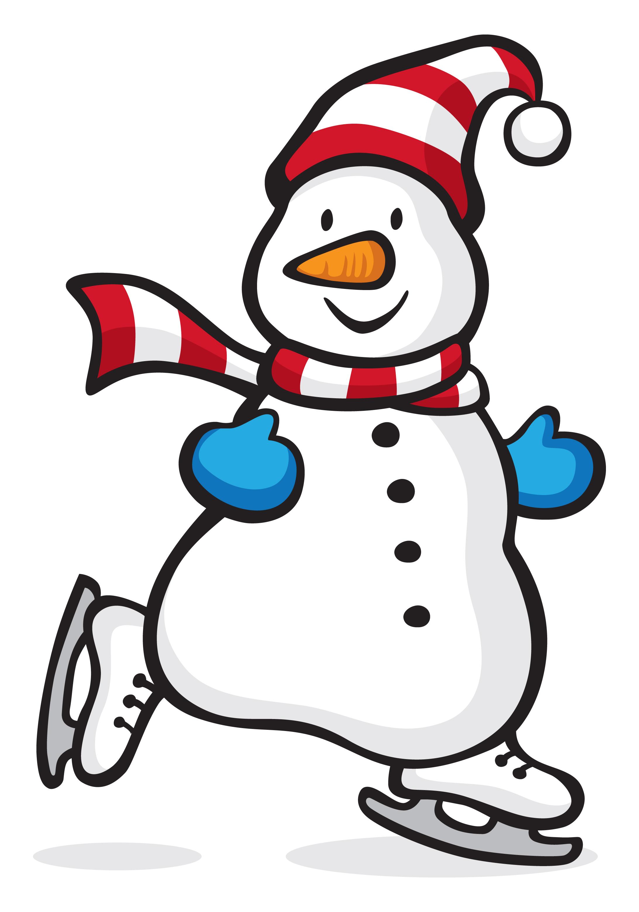 2185x3119 Snowman Clipart Ice Skating