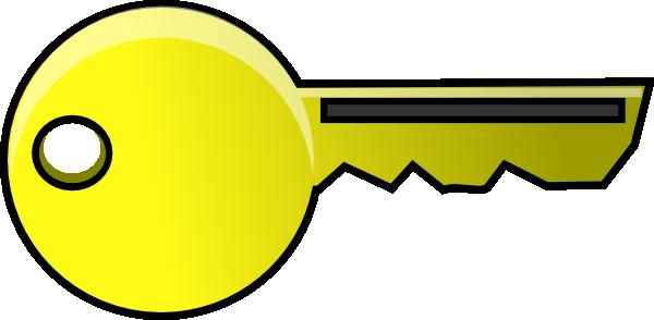 600x294 Golden Key Clip Art