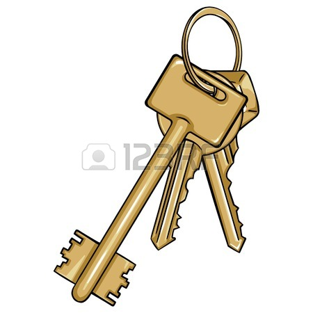 450x450 Vector Set Cartoon Bunches Of Keys On White Background Royalty
