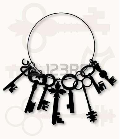 391x450 Bunch Of Keys Clipart