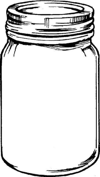 403x714 Drawn Mason Jar Ball Jar
