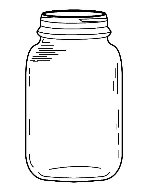 600x777 Drawn Mason Jar Coloring Page