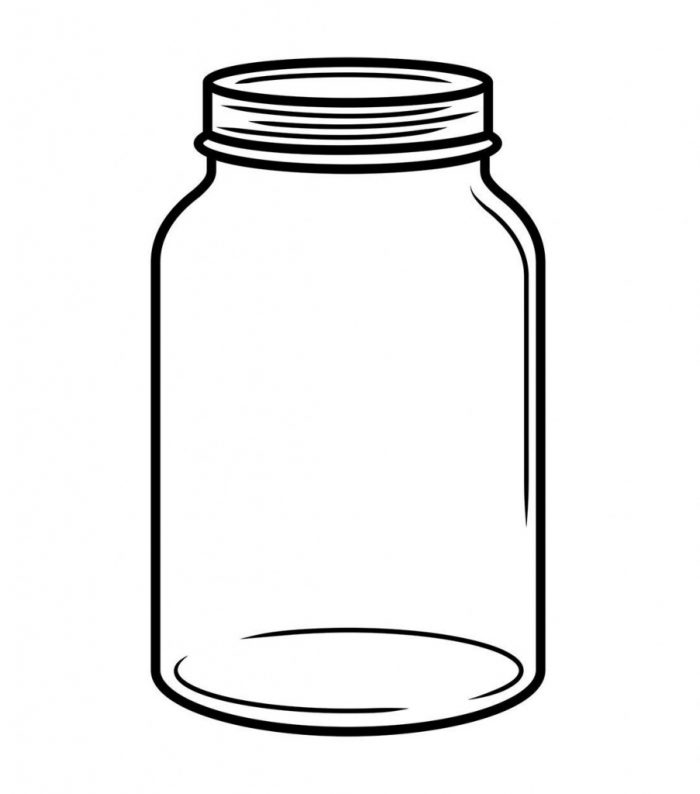 700x794 Mason Jar Coloring Page Capture Marvelous Template Jars Clip Art