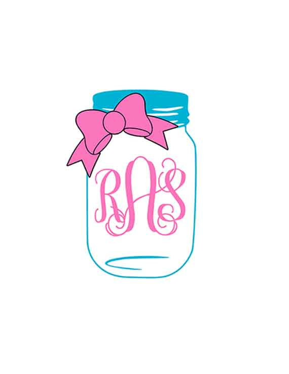 570x738 Mason Jar Svg Bow Mason Jar Monogram Svg Svg Files