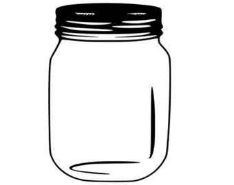 340x270 Mason Jar Clipart Silhouette