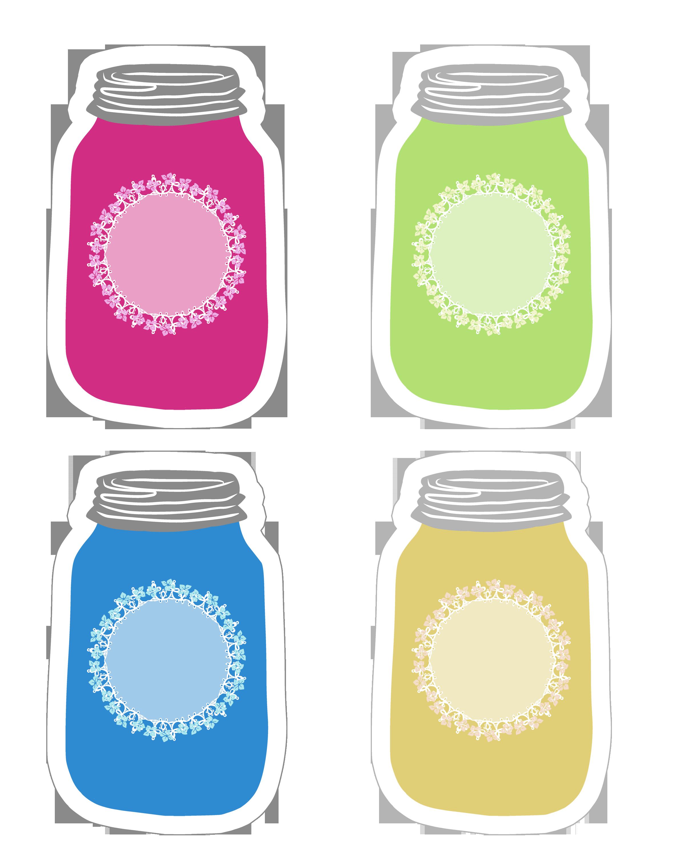 2400x3000 Colorful Mason Jar Tag Collection Free Printable