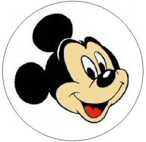 300x293 MICKEY MOUSE FACE 1 Sticker Seal Labels EBay