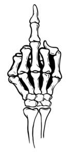148x296 A Man Giving A Middle Finger Middle Fingers