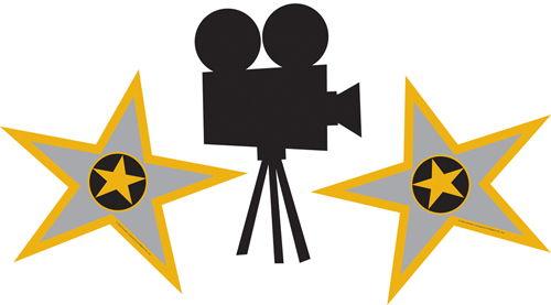 500x277 Movie Reel Movie Star Clipart