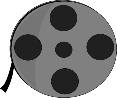 410x343 Movie Reel Clip Art Image