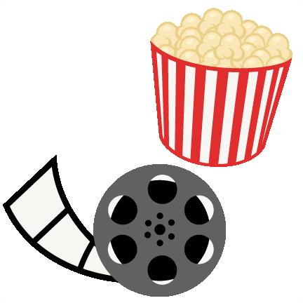 432x432 Popcorn Movie Reel Movie Night Svg Scrapbook Cut File Cute Clipart