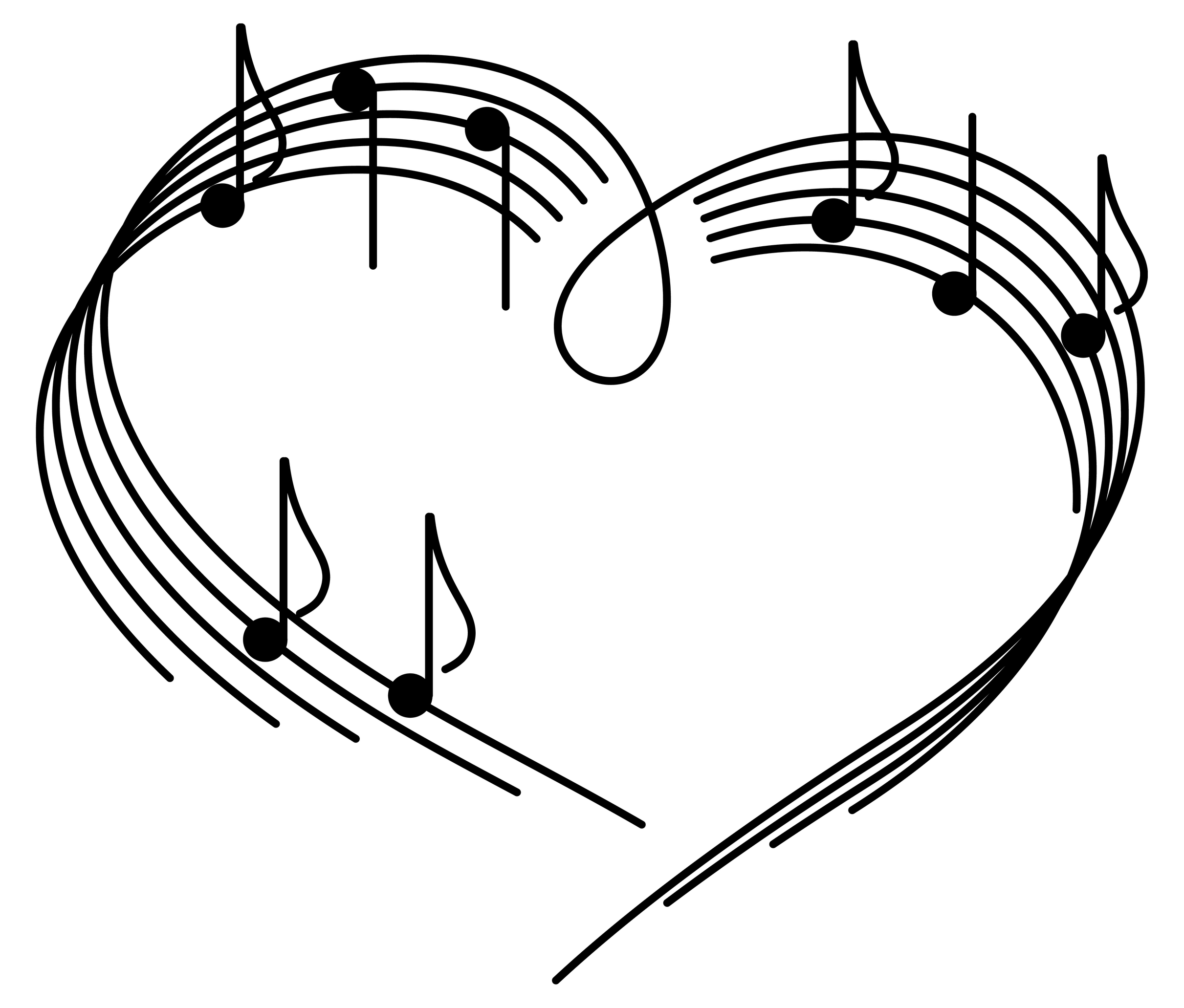 2422x2063 Free Music Notes Heart Clipart Image