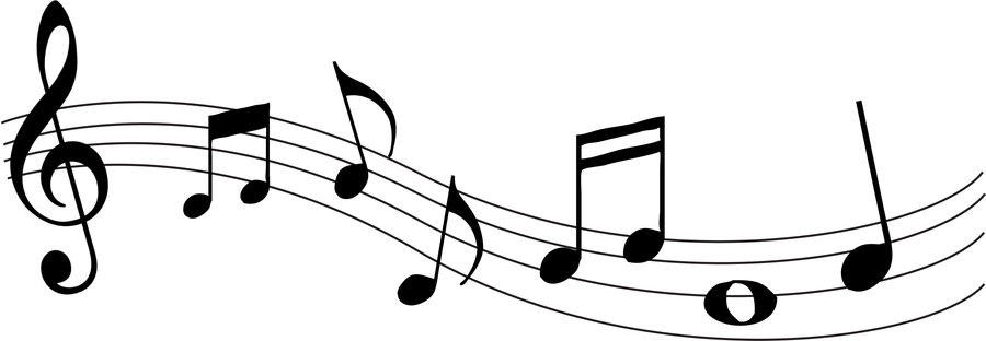 900x312 Music Notes Clipart Random